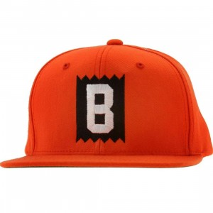 BAIT B Box Logo Snapback Cap (orange / white)