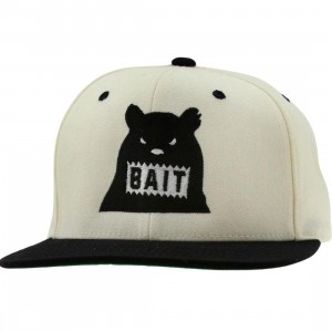 BAIT Bear Snapback Cap (natural / black / black)