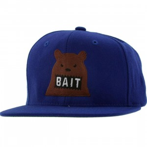 BAIT Bear Snapback Cap (royal / brown)