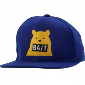 BAIT Bear Snapback Cap (royal / yellow)