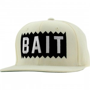 BAIT Box Logo Snapback Cap (natural / white)
