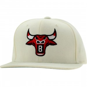 BAIT Bull Snapback Cap (natural / red)