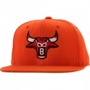 BAIT Bull Snapback Cap (orange / red)