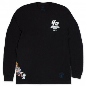 BAIT x Doraemon Men 4D Long Sleeve Tee (black)
