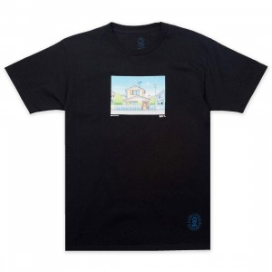 BAIT x Doraemon Men Home Design Tee (black)