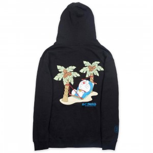 BAIT x Doraemon Men No Worries Honolulu Hoody (black)