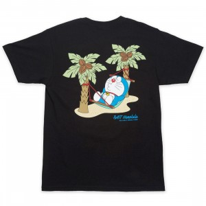 BAIT x Doraemon Men No Worries Honolulu Tee (black)
