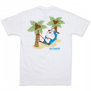 BAIT x Doraemon Men No Worries Honolulu Tee (white)