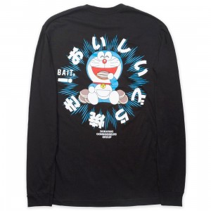 BAIT x Doraemon Men Dorayaki Long Sleeve Tee (black)