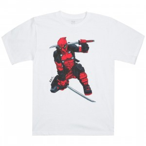 BAIT x Marvel Men Deadpool Two Swords Tee (white)