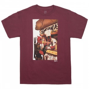 BAIT x Marvel Men Deadpool Chimichanga Tee (burgundy)
