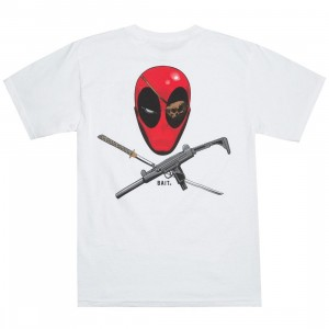 BAIT x Marvel Men Deadpool Ratatat Tee (white)