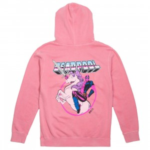 BAIT x Marvel Men Deadpool Unicorn Pigment Dyed Hoody (pink)