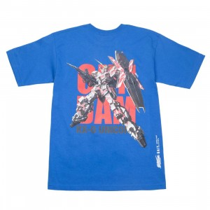 BAIT x Gundam Universe Men Unicorn Gundam Tee (blue / royal)