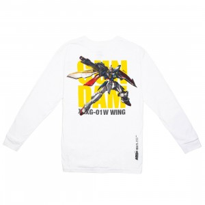 BAIT x Gundam Universe Men Wing Gundam Long Sleeve Tee (white)