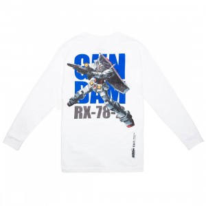 BAIT x Gundam Universe Men RX-78-2 Gundam Long Sleeve Tee (white)