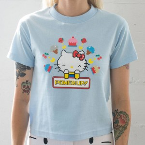 BAIT x Sanrio x Pac-Man Women Power Up Tee (blue)