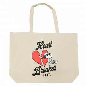 BAIT x Snoopy Heart Breaker Tote Bag (canvas)