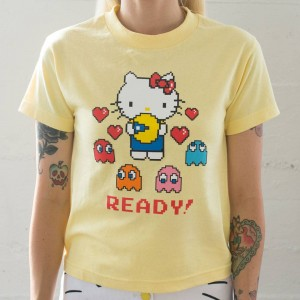 BAIT x Sanrio x Pac-Man Women Ready Tee (yellow / banana)