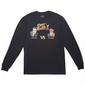 BAIT x Street Fighter x JBALVIN Men VS Long Sleeve Tee (black)