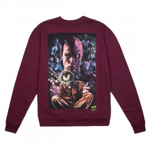 BAIT x Joker Men Villains Crewneck Sweater (purple)