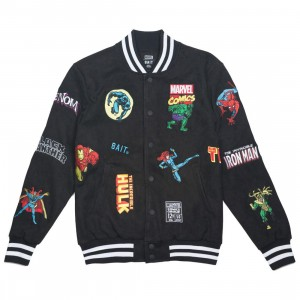 BAIT x Marvel Men Classic Varsity Jacket (black)