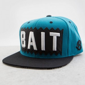 BAIT x Mitchell And Ness Box Logo Snapback Cap (turquoise / black)