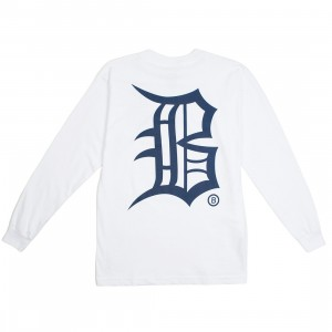 BAIT Men Old B Long Sleeve Tee (white)