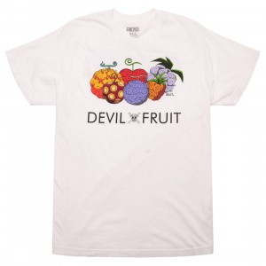BAIT x One Piece x Upcycle LA Men Devil Fruit Tee (white)