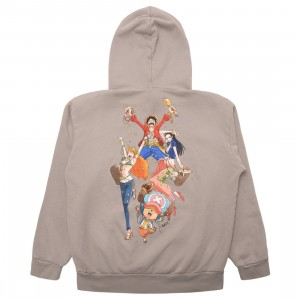BAIT x One Piece x Upcycle LA Men Gold We Rich Hoody (gray)