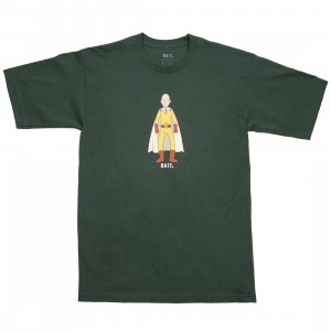 BAIT x One Punch Man Men The Hero Tee (green / forest green)