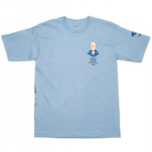 BAIT x One Punch Man Men Workout Plan Tee (blue / light blue)
