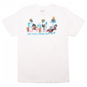 BAIT x One Piece x Upcycle LA Men Straw Hat BAIT Crew Tee (white)