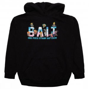 BAIT x One Piece x Upcycle LA Men Straw Hat BAIT Hoody (black)