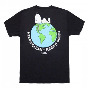 BAIT x Snoopy x Upcycle Men Our World Tee (gray / asphault)