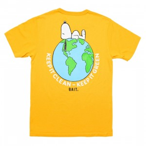 BAIT x Snoopy x Upcycle Men Our World Tee (yellow / mango)