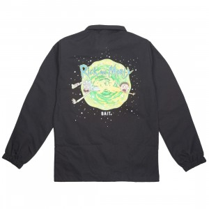 BAIT x Rick and Morty Men Portal Glow In The Dark Coaches Jacket (black)