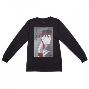 BAIT x Street Fighter x Kidokyo Men Ryu Long Sleeve Tee (black)