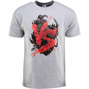 BAIT x Street Fighter Akuma VS Ryu Tee - Long Vo (gray / heather gray / black)