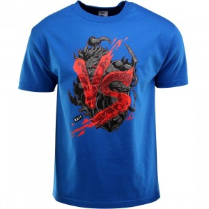 BAIT x Street Fighter Akuma VS Ryu Tee - Long Vo (blue / royal blue / black)