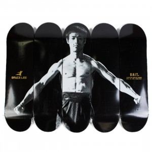 BAIT x Bruce Lee Skateboard Deck 5 Piece Set (black)