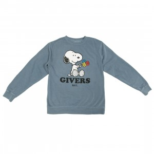 BAIT x Snoopy Men Givers Crewneck Sweater (blue)