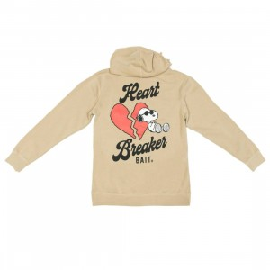 BAIT x Snoopy Men Heart Breaker Hoody (brown / sand)