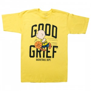 BAIT x Snoopy Men Good Grief Athletics Tee (yellow / gold)