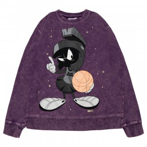 BAIT x Space Jam A New Legacy Men Marvin Legacy Crewneck Sweater (purple / washed)
