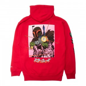 BAIT x Star Wars Manga Men Boba Fett Hoody (red)