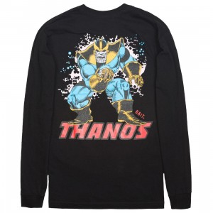 BAIT x Marvel Thanos Men Power Stance Glow In The Dark Long Sleeve Tee (black)