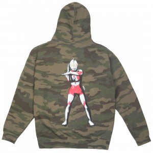 BAIT x Ultraman Men Specium Ray Zip Hoody (camo)