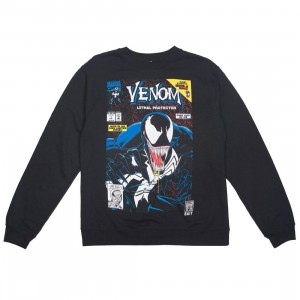 BAIT x Marvel Men Venom Lethal Protector Crew Sweater (black)