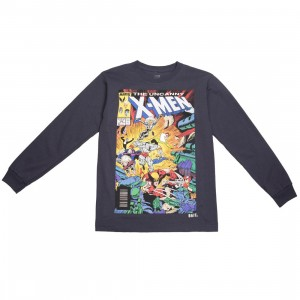 BAIT x Marvel Men The Uncanny X-MEN Long Sleeve Tee (navy / dark navy)